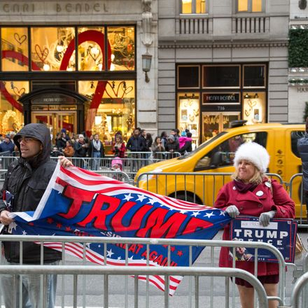 trump supporters in new york shutterstock 520405102