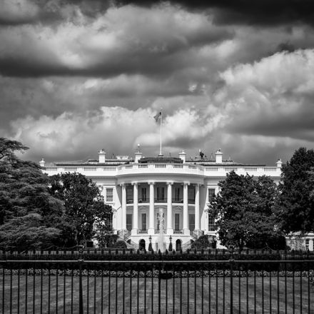 white house storm clouds b and w shutterstock 1271039884