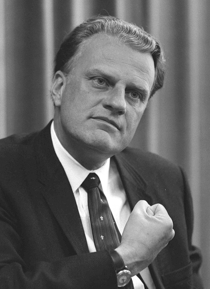 870px billy graham bw photo, april 11, 1966