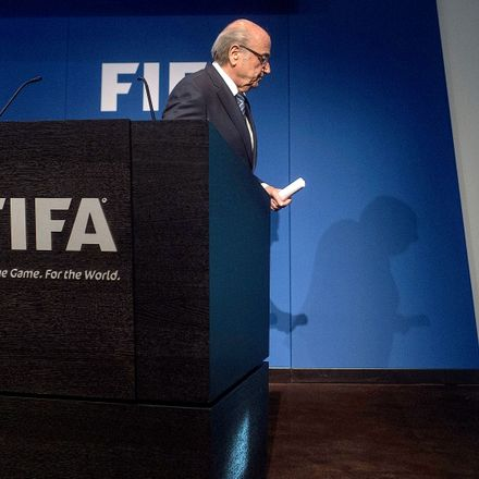 FIFA President Sepp Blatter takes leave, stepping down amid a darkening cloud of corruption.