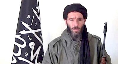 Mokhtar Belmokhtar, pictured here in an undated video released by the militants, is believed to have been killed by a targeted U.S. strike in Libya.