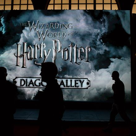 The Wizarding World of Harry Potter, Diagon Alley, at Universal Studios in Orlando, Florida.