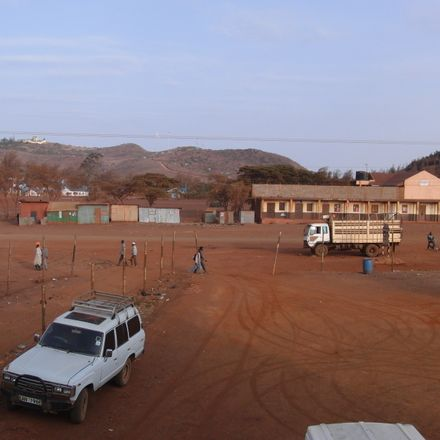 street scene in marsabit, north kenya