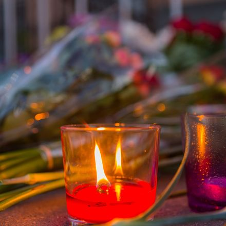 memorial candle for mass shooting shutterstock 436693627