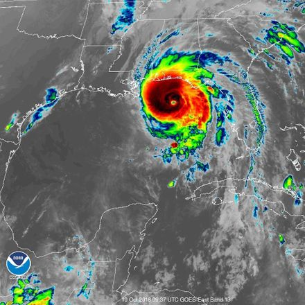 Hurricane michael noaa ir satellite image