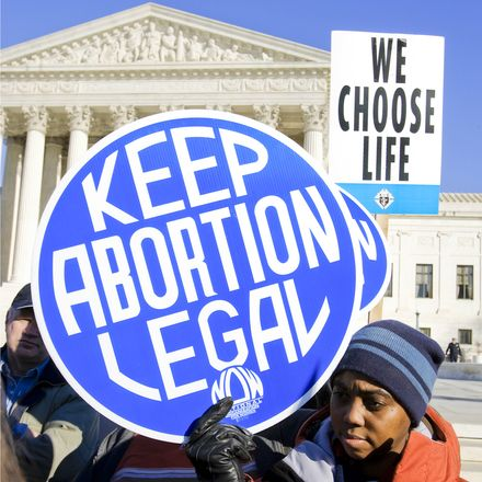 pro and anti abortion protesters at supreme court shutterstock 578767672