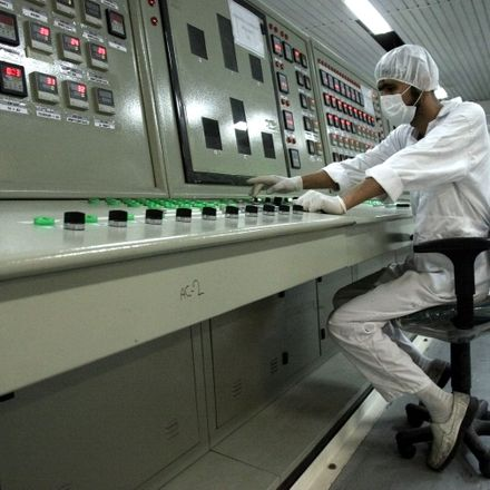 Man working in Iran Nuclear Power Plant
