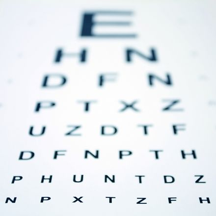 Eye chart with shallow depth of field shutterstock 10621201