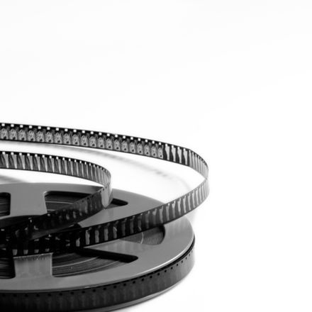film reel on white background shutterstock 1109707