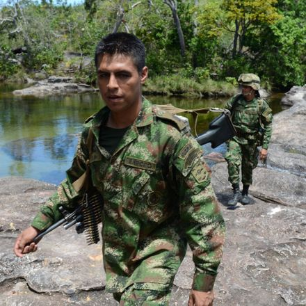 colombian farc fighting forces shutterstock 145720412