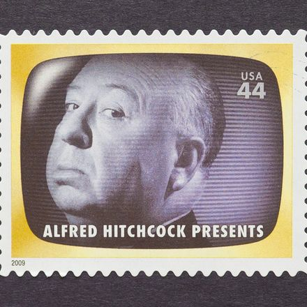 Alfred Hitchcock postage stamp shutterstock 147084593