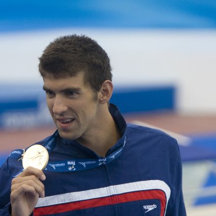 Michael Phelps gold medal Rome world championships 2009 swimmer