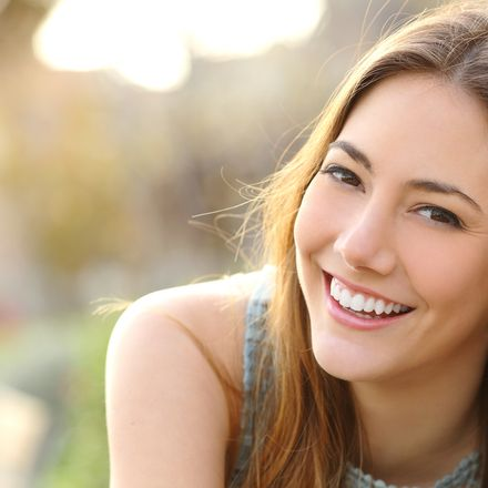 smiling happy white woman shutterstock 268932410