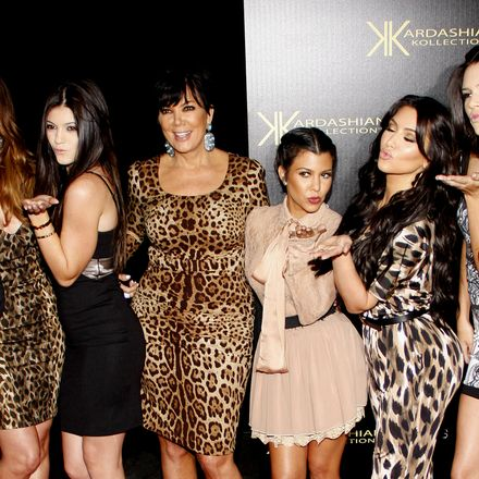 Khloe Kardashian, Kylie Jenner, Kris Jenner, Kourtney Kardashian, Kim Kardashian and Kendall Jenner at the Kardashian Kollection Launch Party held at the Colony in Hollywood, USA on August 17, 2011. shutterstock 313319390