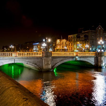 O'Connell Bridge Dublin Ireland shutterstock 543184810