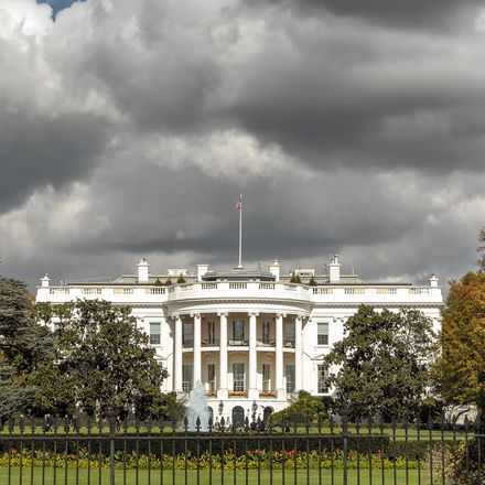 White House stormy sky shutterstock 565036330