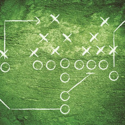football x's and o's shutterstock 59410525