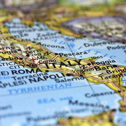 Italy on map shutterstock 85467835
