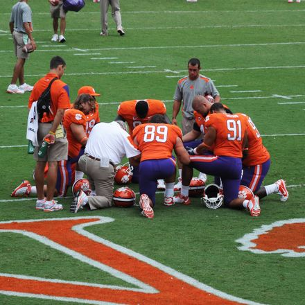 clemson tigers football prayer shutterstock 97167512
