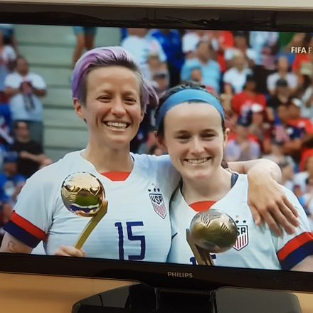 megan rapinoe and rose lavelle after world cup victory erik n nelson