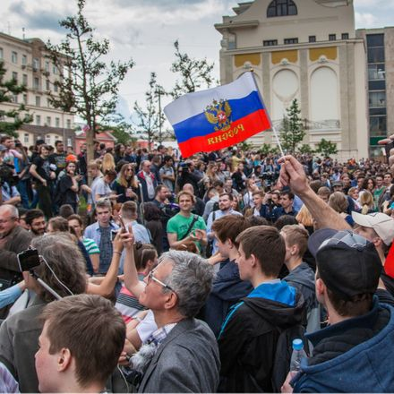 moscow russia navalny protest shutterstock 658418101