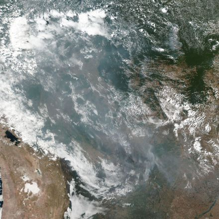Amazon fires from space nasa