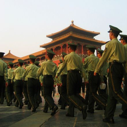 china military march shutterstock 1230936274
