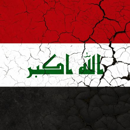 Iraq flag cracked shutterstock 1134705704