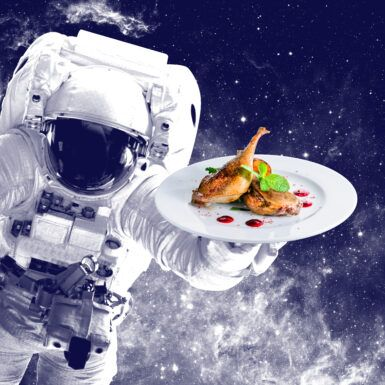 """Are You Ready for Smoked Duck With Squid Ink Risotto … in """"Outer Space""""?"""