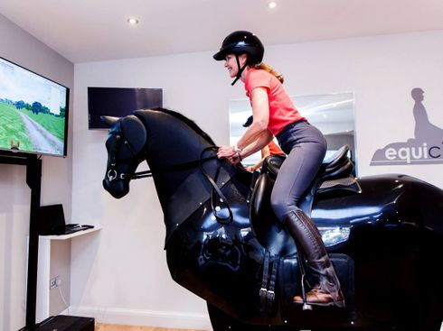 Getting Fit With Fake Horse Riding … for $100 a Class